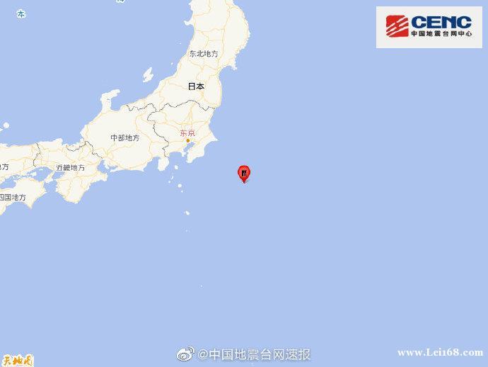 日本本州东岸远海发生5.0级地震,震源深度10千米