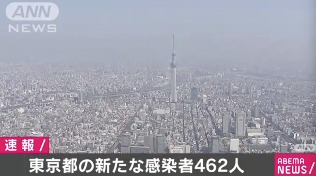 东京入管局已有4人确诊感染新冠,东京今日462人确诊,在日华人尽量减少出门!