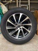 出售4只阿尔法17寸新品轮毂加4条横滨新品轮胎